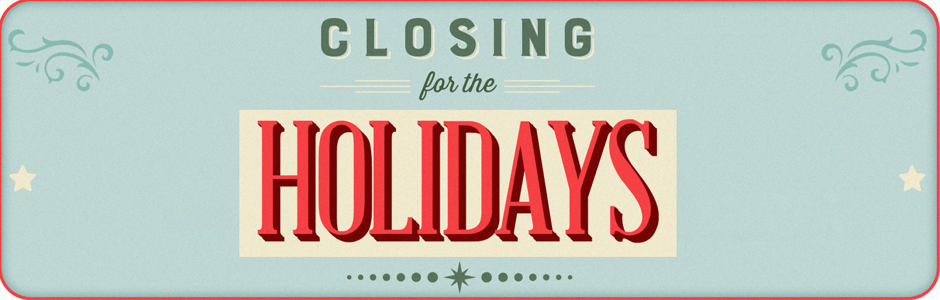 Holiday-Closures