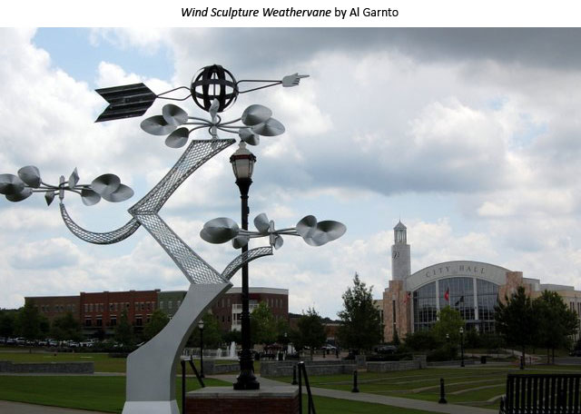 Wind Sculpture Weathervane by Al Garnto